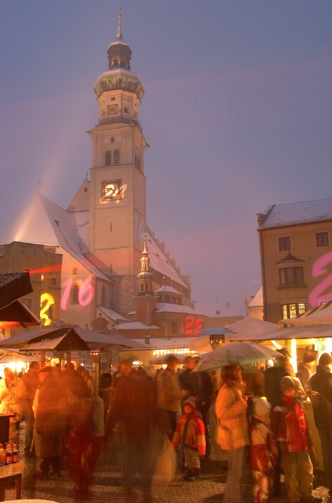 Christmas market at Hall in Tyrol